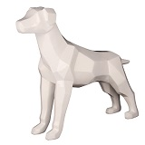 Geometric Dog Sculpture - White