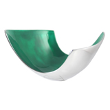 Emerald Abstract Aluminium Bowl medium