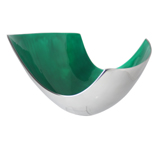 Emerald Abstract Aluminium Bowl large