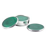 Emerald Coasters set of 6