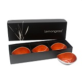 Boxed Set of 3 Orange Bowls 13cm