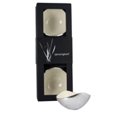 Boxed Set of 3 White 13cm Oval Nut Bowls