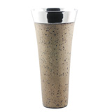 Light Granite Tapered Vase 35cm