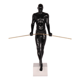 The Balancing Man Sculpture - Black
