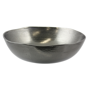 Rough Matt Black Nickel 32cm Round Bowl