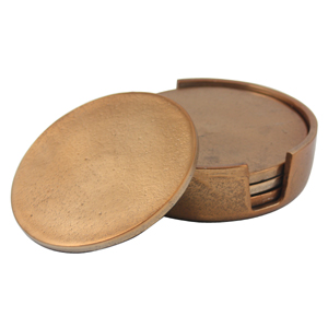 Rough Copper Coasters set of 4