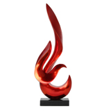 Metallic Orange Unity Sculpture 60cm