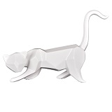 Geometric Cat Sculpture - White