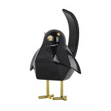 Small Black Bird B Statue