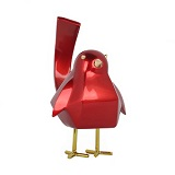 Small Red Bird B Statue