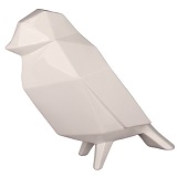 Geometric Bird Sculpture - White